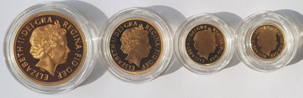 2002 4 Coin Gold Proof Sovereign Set