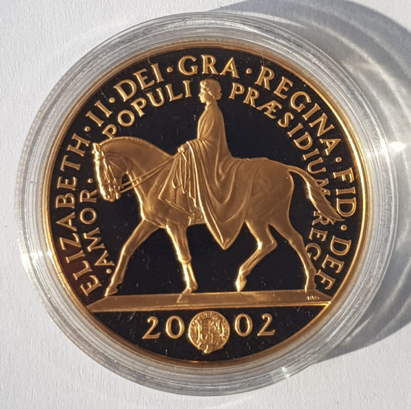 2002 Golden Jubilee Gold Proof Five Pounds