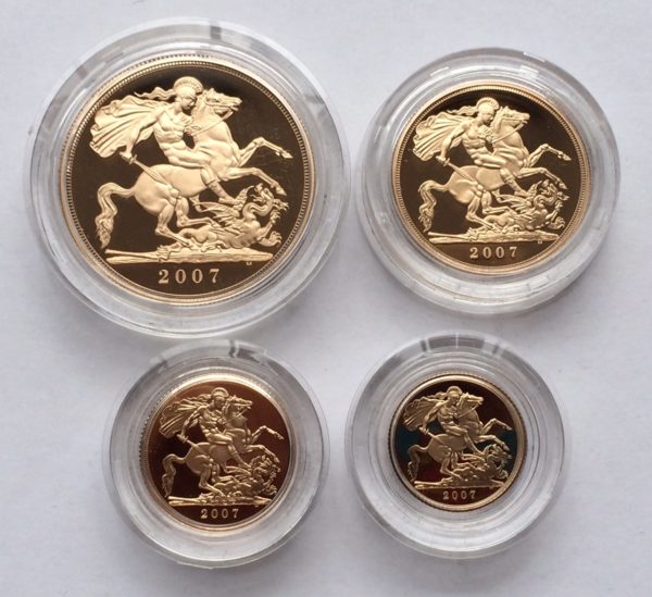 2007 4 Coin Gold Proof Sovereign Set