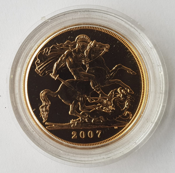 2007 Brilliant Uncirculated Gold Five Pounds