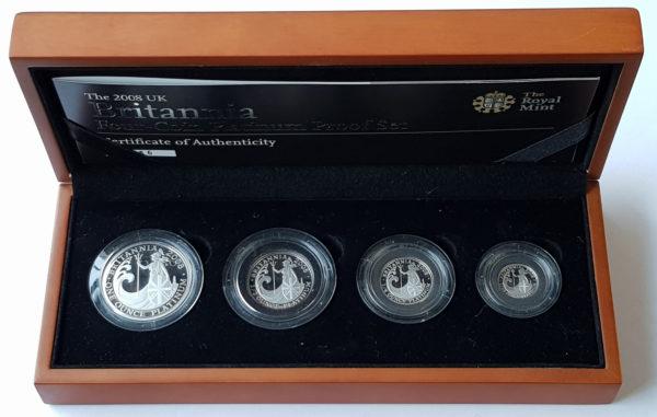 2008 Platinum Proof Britannia Set