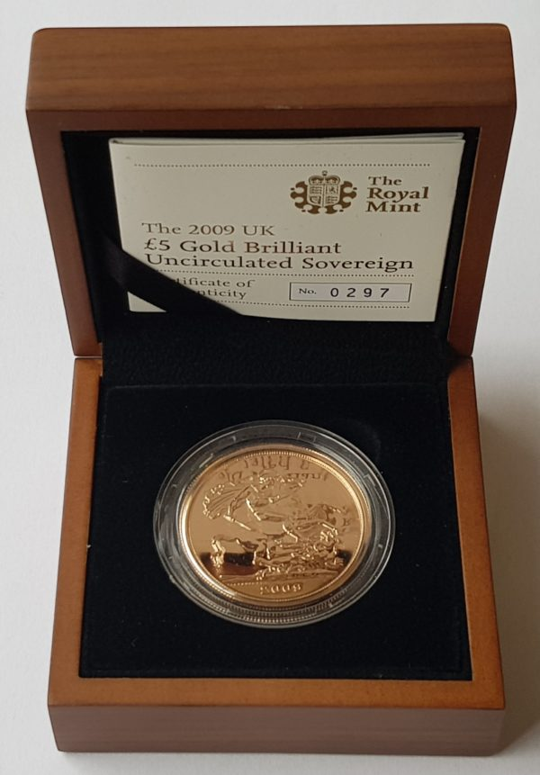 2009 Brilliant Uncirculated Gold Five Pounds