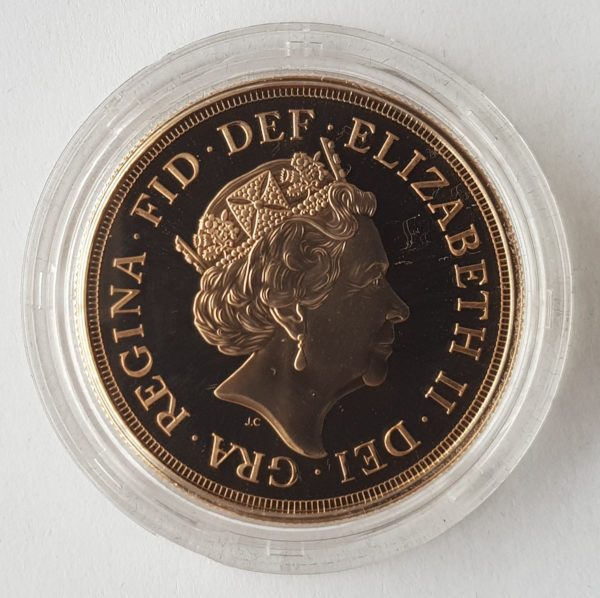 2015 Brilliant Uncirculated Gold Five Pounds