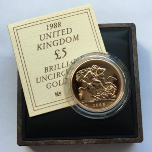 1988 Brilliant Uncirculated Gold Five Pounds