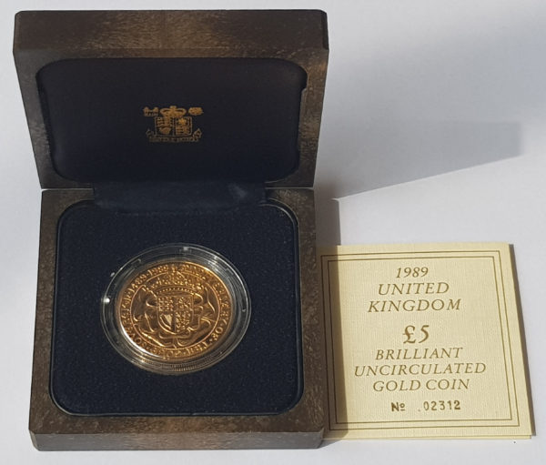 1989 Brilliant Uncirculated Gold Five Pounds