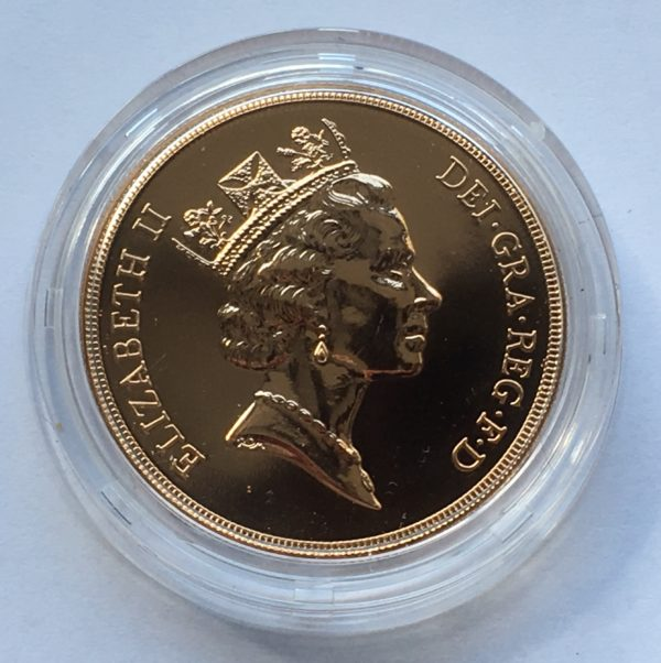1990 Brilliant Uncirculated Gold Five Pounds