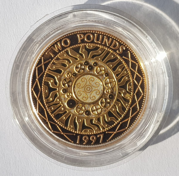 1997 Gold Proof Two Pounds