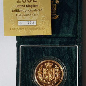 2002 Brilliant Uncirculated Gold Five Pounds