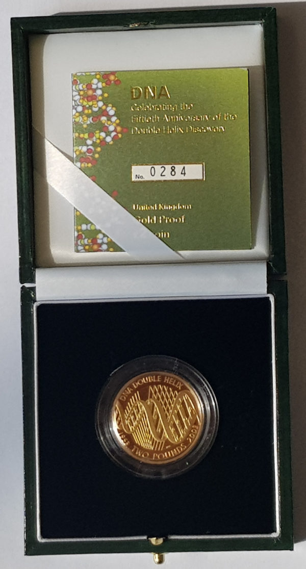 2003 DNA Gold Proof Two Pounds