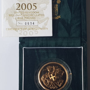 2005 Brilliant Uncirculated Gold Five Pounds