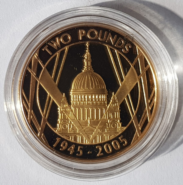 2005 World War Two Gold Proof Two Pounds