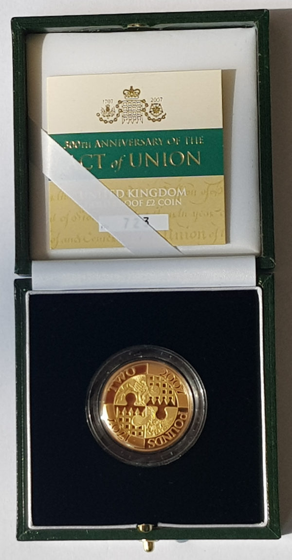 2007 Act of Union Gold Proof Two Pounds