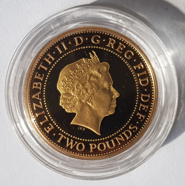2007 Slavery Gold Proof Two Pounds
