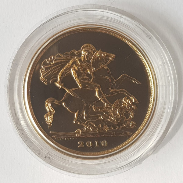 2010 Brilliant Uncirculated Gold Five Pounds