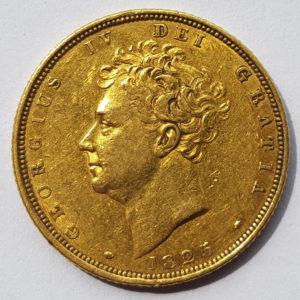 1825 Bare Head Sovereign