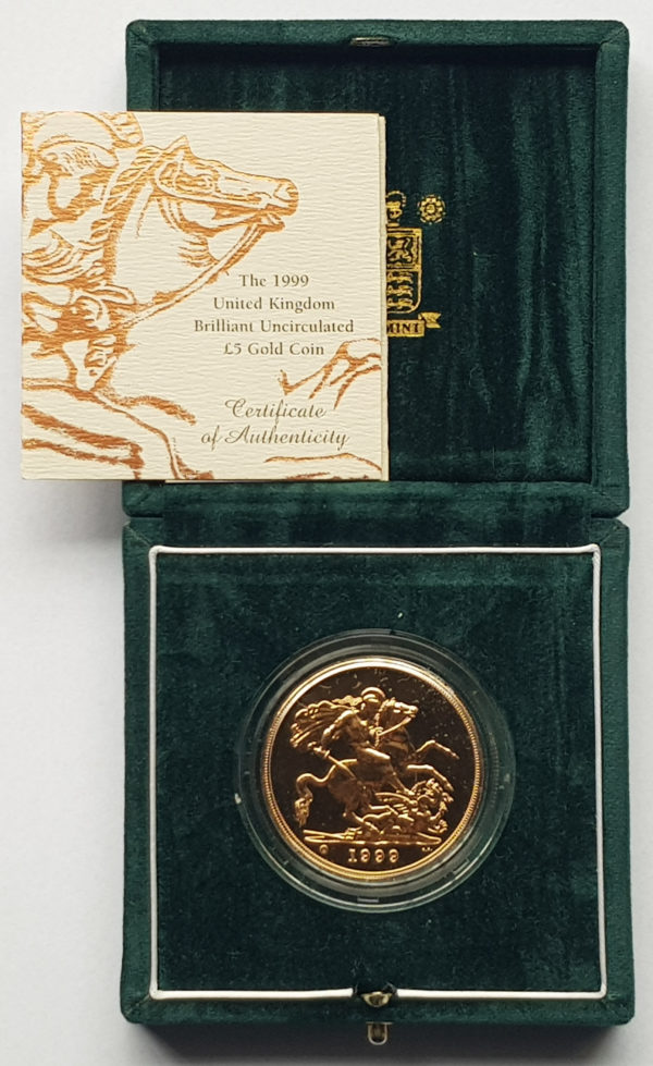 1999 Brilliant Uncirculated Gold Five Pounds