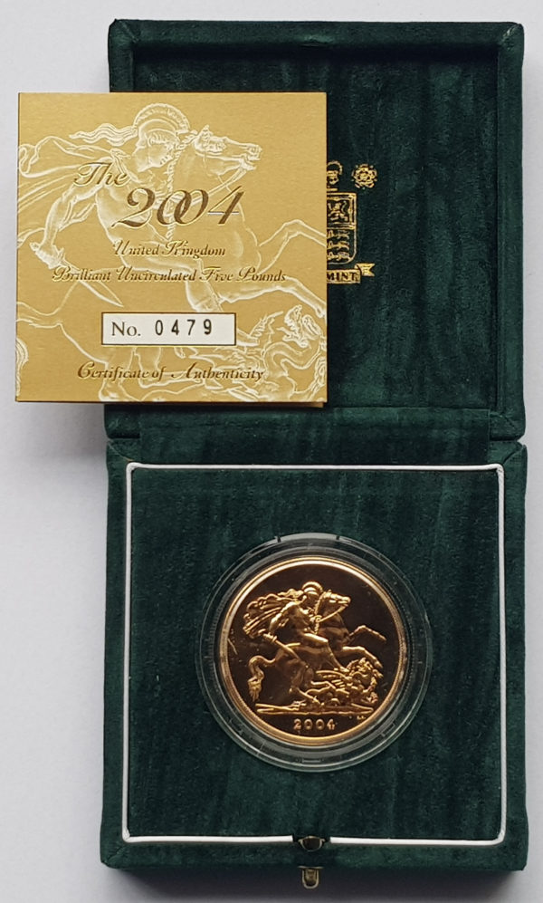 2004 Brilliant Uncirculated Gold Five Pounds