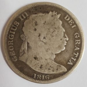 1816 King George III Silver Half Crown