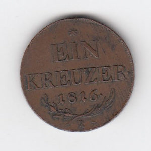 1816 Austria Ein Kreuzer