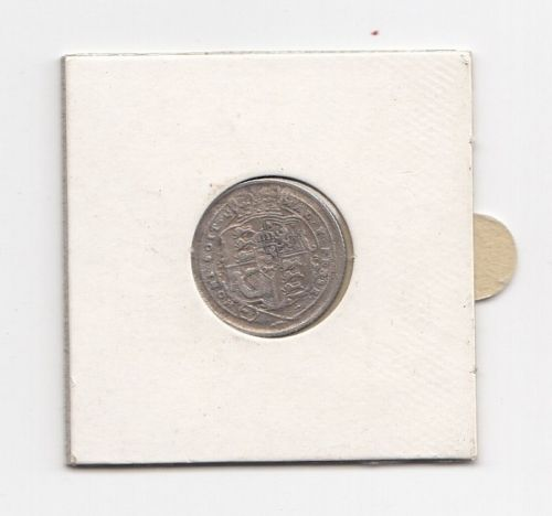 1917 King George III Silver Sixpence