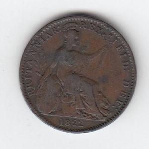 1822 King George IV Farthing