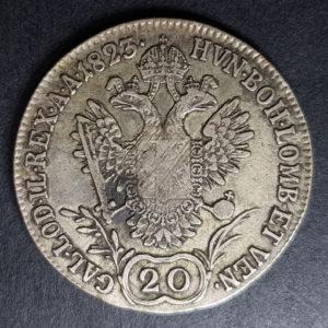 1823 Austria Silver 20 Kreuzer
