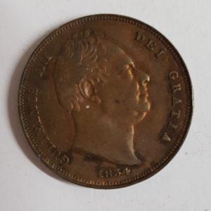 1834 George III Farthing