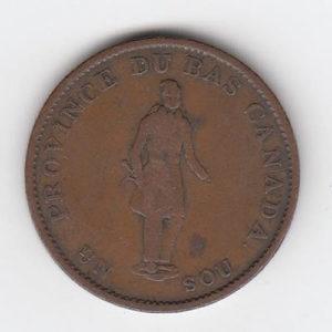 1837 Canada Half Penny Bank Token