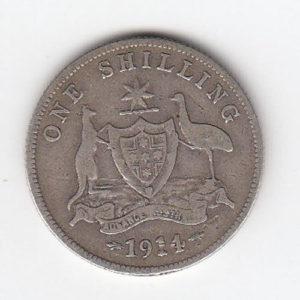 1914 Australia King George Silver Shilling