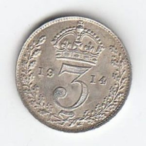 1914 King George V silver Threepence