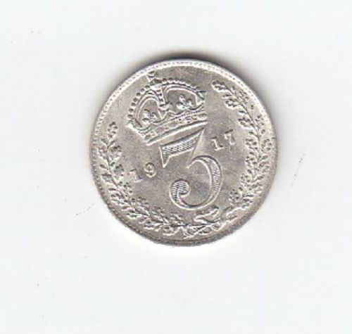 1917 King George V Silver Threepence