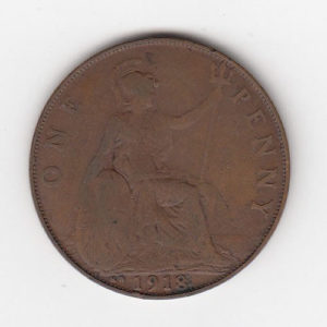 1918 King George KN Penny