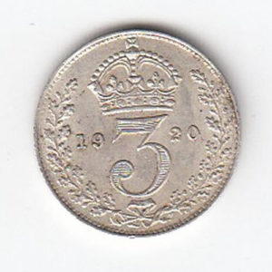 1920 King George Silver Threepence