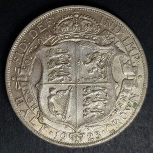 1923 King George Silver Half Crown