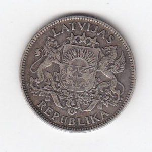 1924 Latvian One Lats