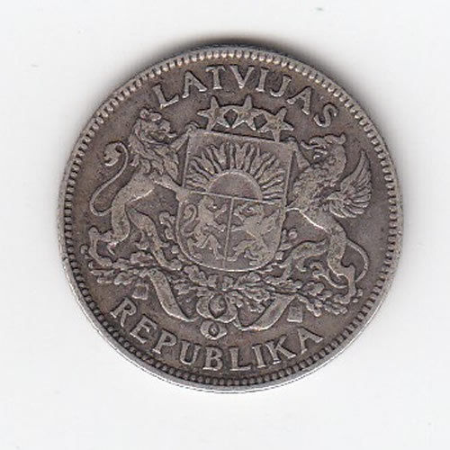 1924 Latvian One Lats