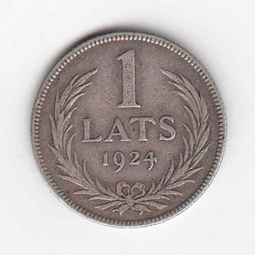 1927 Latvian One Lats