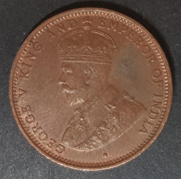 1926 Ceylon Half Cent