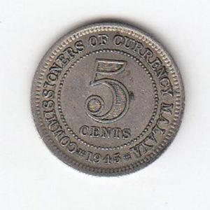 1945 Malaya 5 Cents