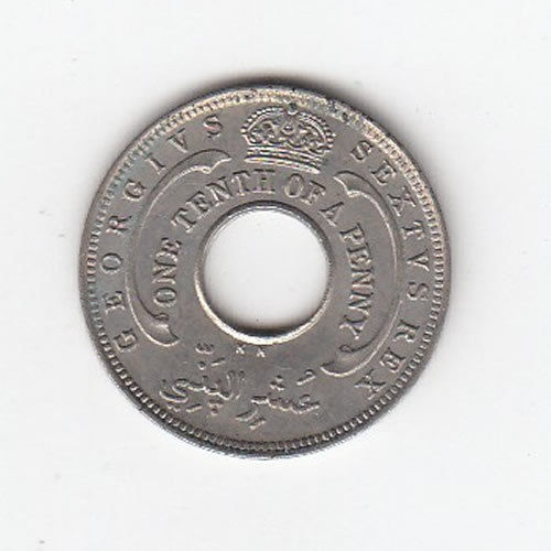 1950 British west Africa 1/10th Penny