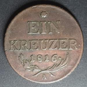 1816 German States Ein Kreuzer