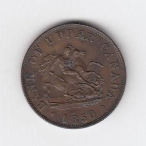 1850 Canada Half Penny