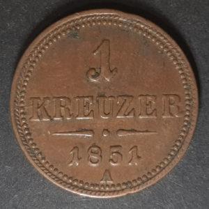 1851 Austria One Kreuzer