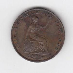1855 Queen Victoria Penny
