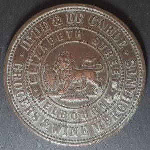 1857 Melbourne Hide & De Carle Token