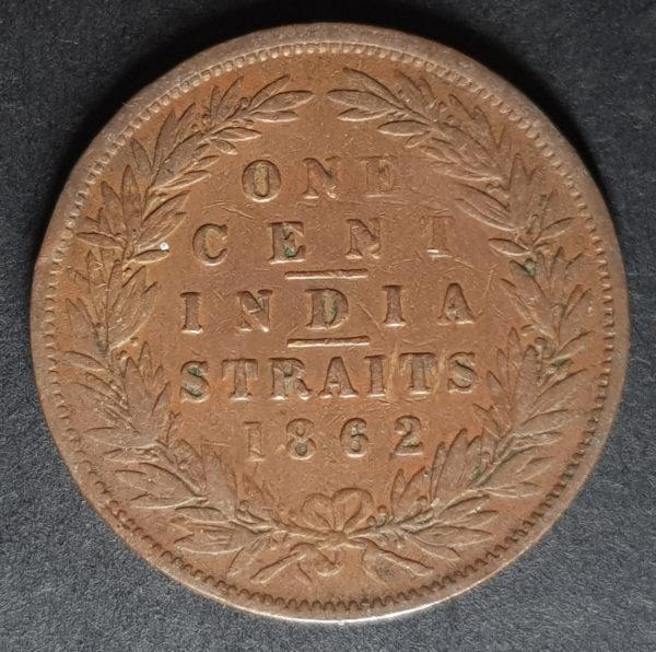 1862 India Straits One Cent