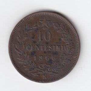 1866 Italy 10 Centesimi