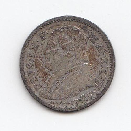 Obverse 1868 Papal States 10 Solde