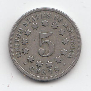 1869 United States Shield Nickel