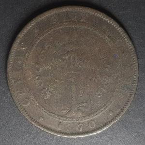 1870 Ceylon 5 Cents